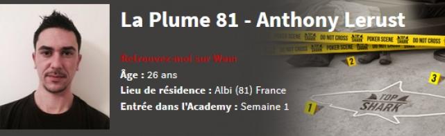 Interview D'Anthony » La Plume 81″ Lerust Candidat à la Top Shark Academy