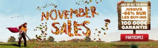 November Sales Chez Everest Poker